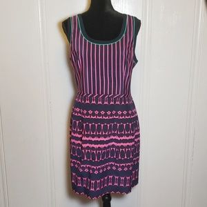 Nanette Lepore Silk Fit&Flare Mixed Print Dress